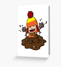 Makin' mudpies! Greeting Card