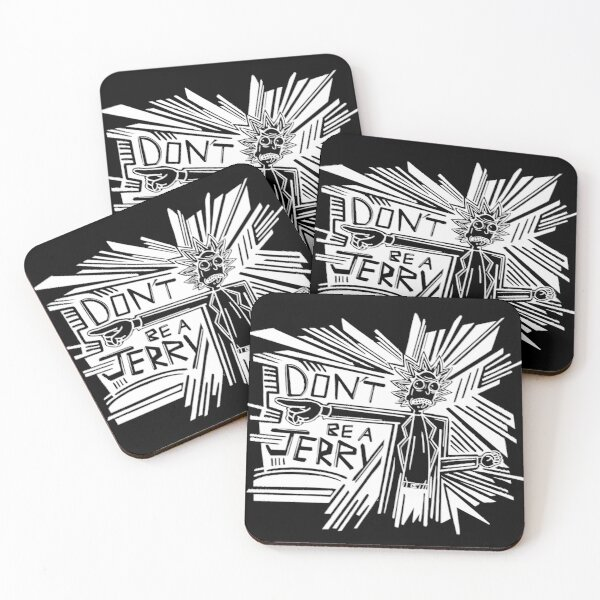 Rick and Morty | Dont Be a Jerry (Negative) Coasters (Set of 4)
