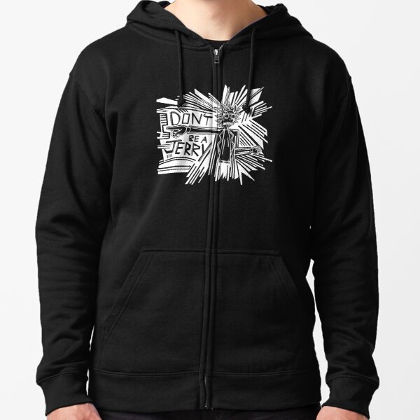 Rick and Morty   Dont Be a Jerry (Negative) Zipped Hoodie
