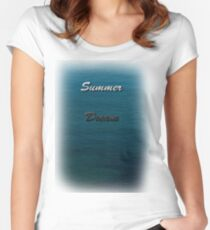 Water makes you think Women's Fitted Scoop T-Shirt
