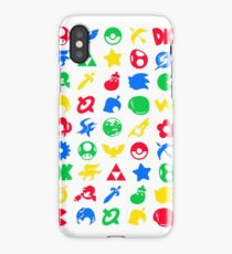 Super Smash Logos Phone Case (WHITE) iPhone Case
