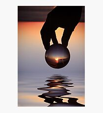 The world in his hands. Photographic Print