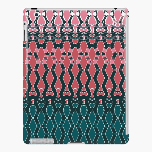 Geometric emerald green and coral iPad Snap Case