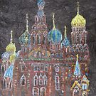 Church of the Spilled Blood St.Petersburg, Russia by Linda Ridpath