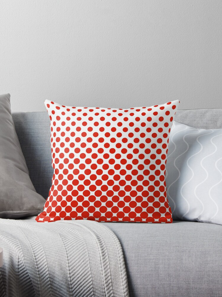 Red Gradient Ombre Polka Dots by ImageNugget