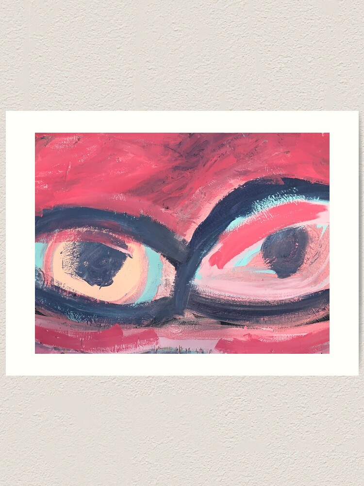 Alternate view of Pink Eye Art Print