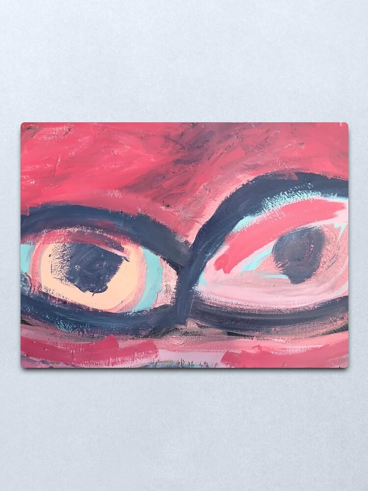 Alternate view of Pink Eye Metal Print