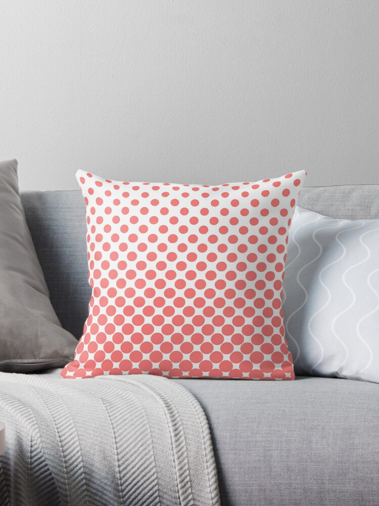 Pink Gradient Ombre Polka Dots by ImageNugget