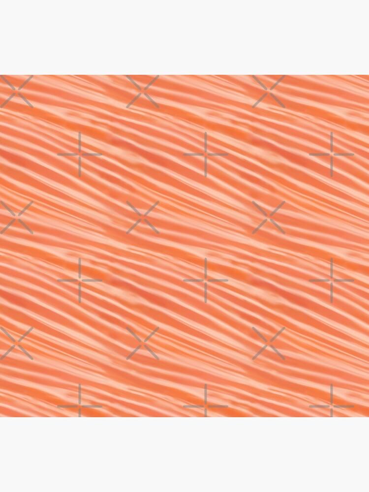 Raw salmon fillet pattern illustration by nobelbunt