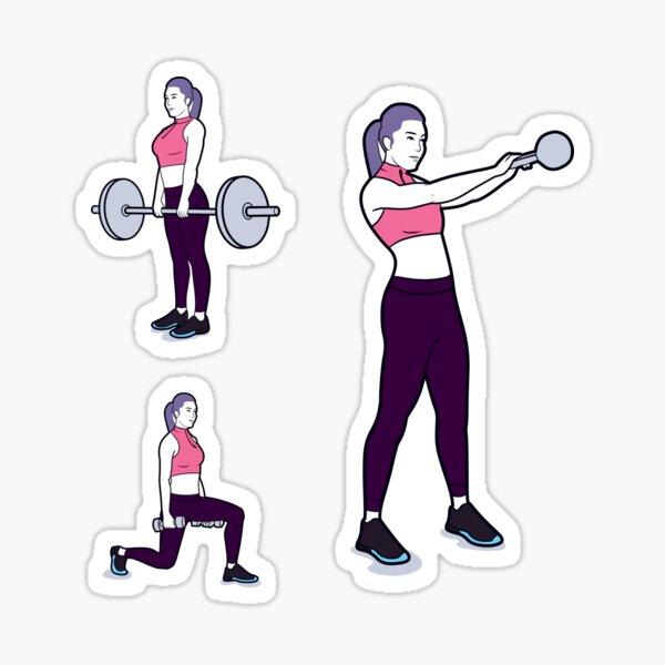 Women's Fitness- Exercises Sticker