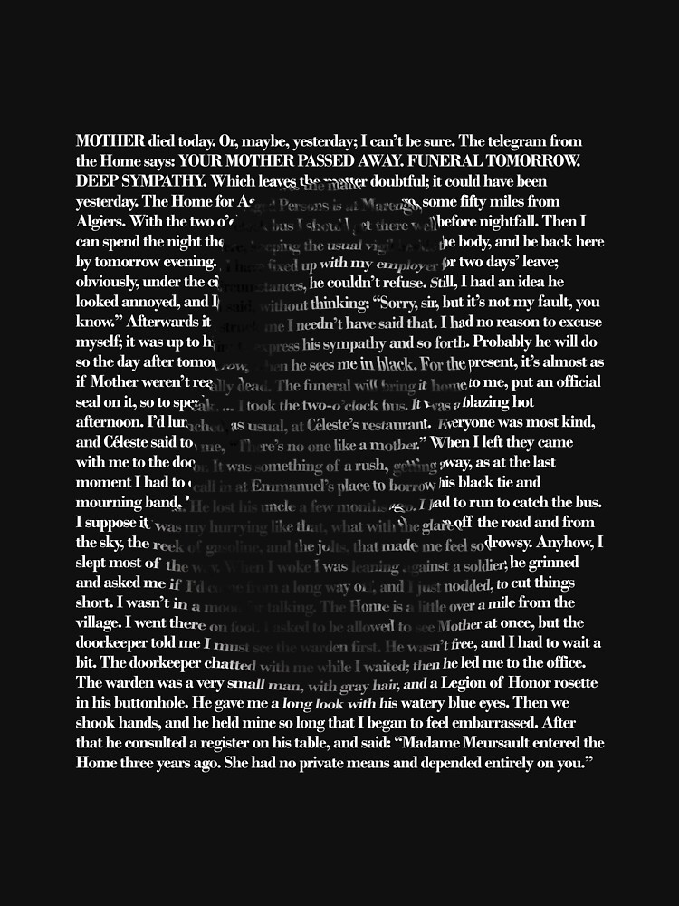Camus The Outsider | Unisex T-Shirt