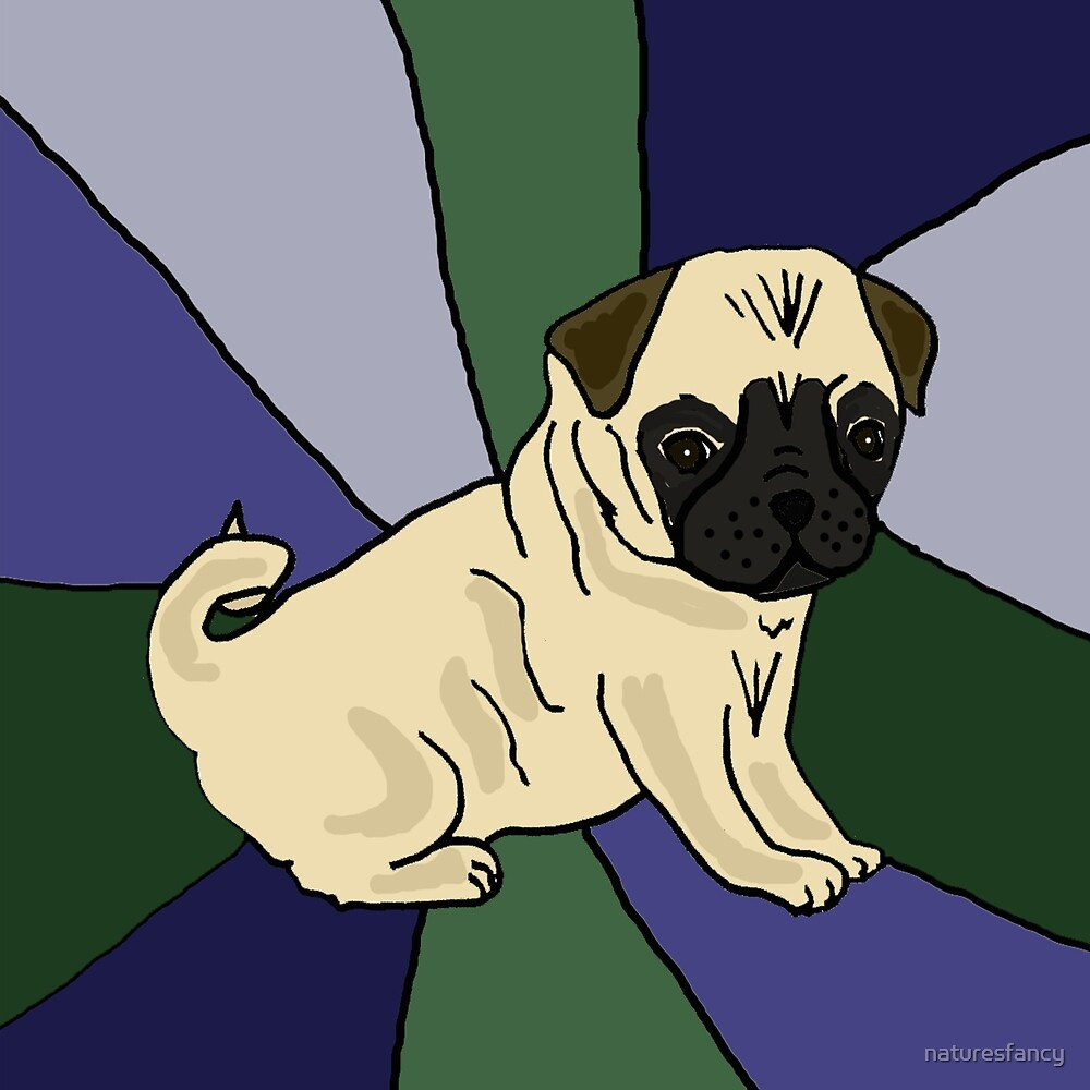 Awesome Fawn Pug Puppy Dog Abstract by naturesfancy
