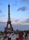 Sunset from Trocadero Plaza by Imagery