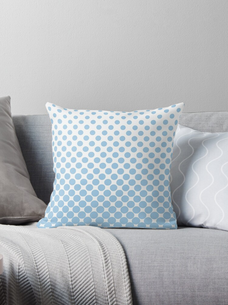 LightBlue Gradient Ombre Polka Dots by ImageNugget