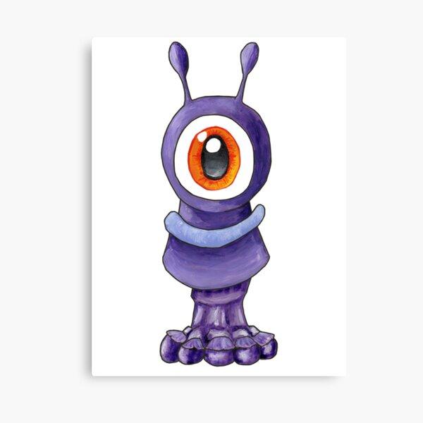 Wistful purple alien Canvas Print