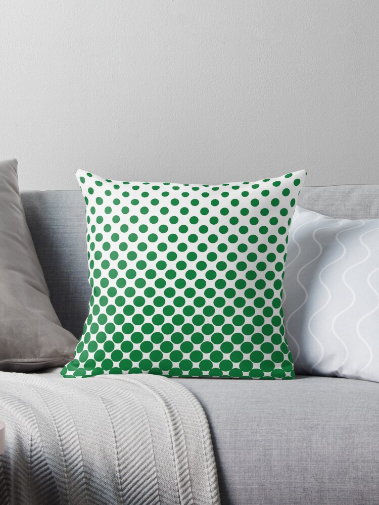 Green Gradient Ombre Polka Dots by ImageNugget