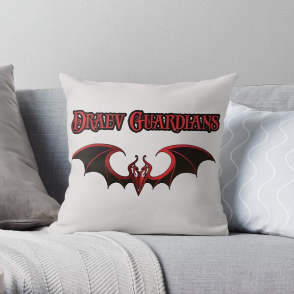 Draev Guardians wing symbol Throw Pillow