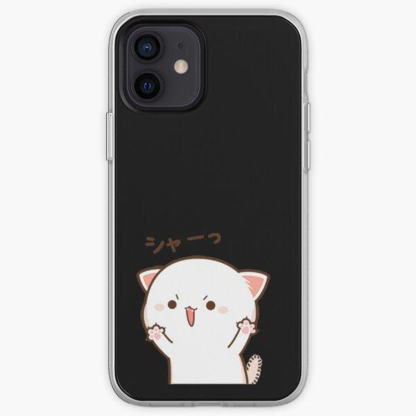 Gato melocotón Funda blanda para iPhone