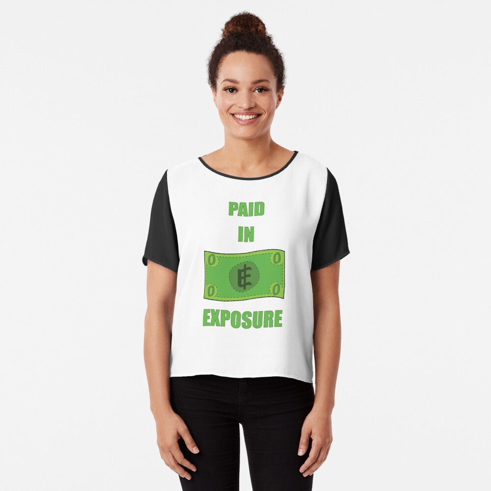 Paid in Exposure Chiffon Top