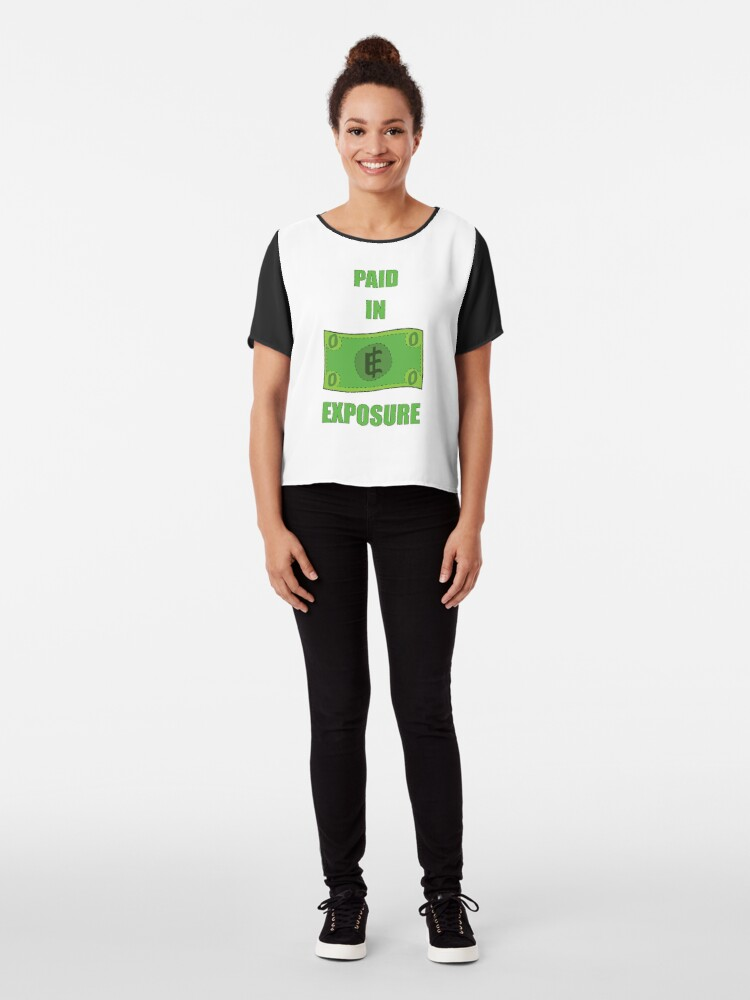Alternate view of Paid in Exposure Chiffon Top