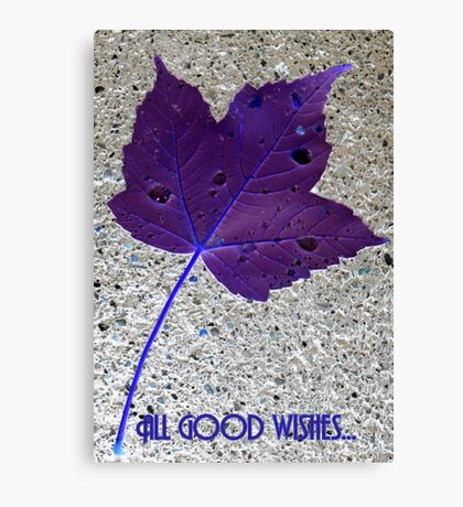 ALL GOOD WISHES... Canvas Print