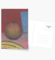 Apple and banana Postcards