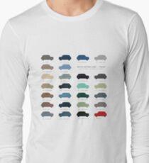 Austin Mini classic - 60's original car colours  Long Sleeve T-Shirt