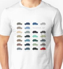 Austin Mini classic - 60's original car colours  T-Shirt