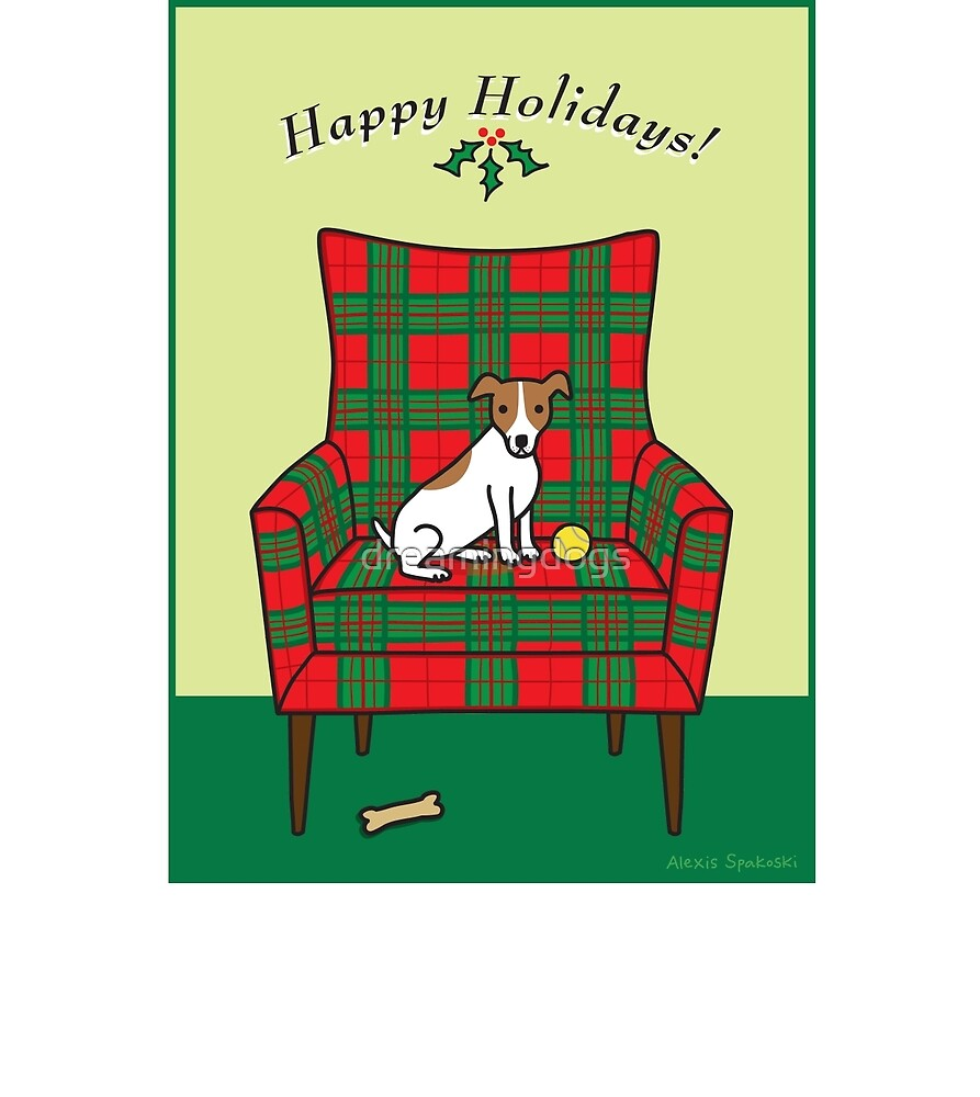 Holiday Jack Russell by dreamingdogs