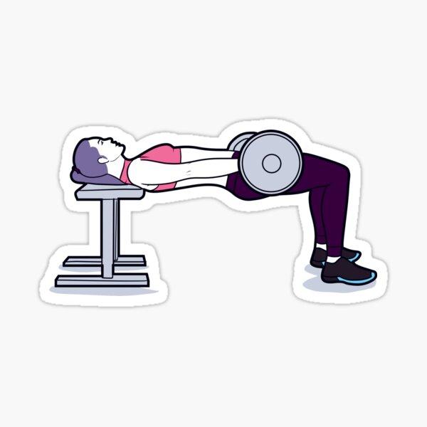 Barbell hip thrusts Sticker