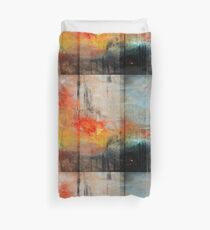 Large Abstract Art, Blue Orange Abstract Print  Duvet Cover