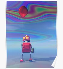 Little Red Birthday Robot 2 Poster