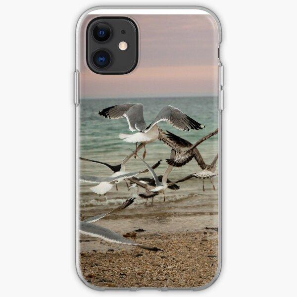 Seagulls in Long Island iPhone Soft Case