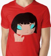 sad Layla Mens V-Neck T-Shirt