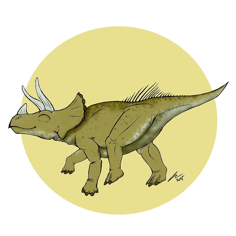 Be a happy Triceratops! by pakozoic