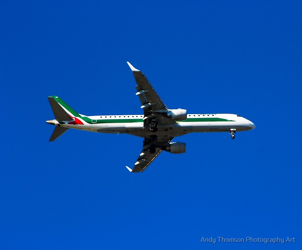 Alitalia Embraer E-190 by Andy Thomson Photography Art