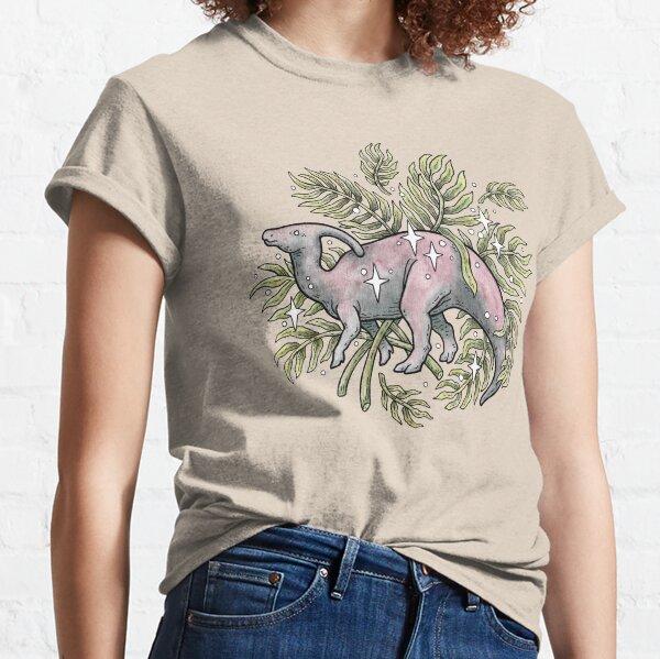 Parasaurolophus & Palms | Dinosaur Botanical Art Classic T-Shirt