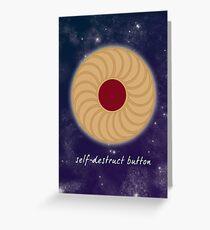 Self-Destruct Button Greeting Card