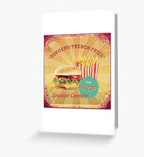 50s Burger and Chips ! Greeting Card