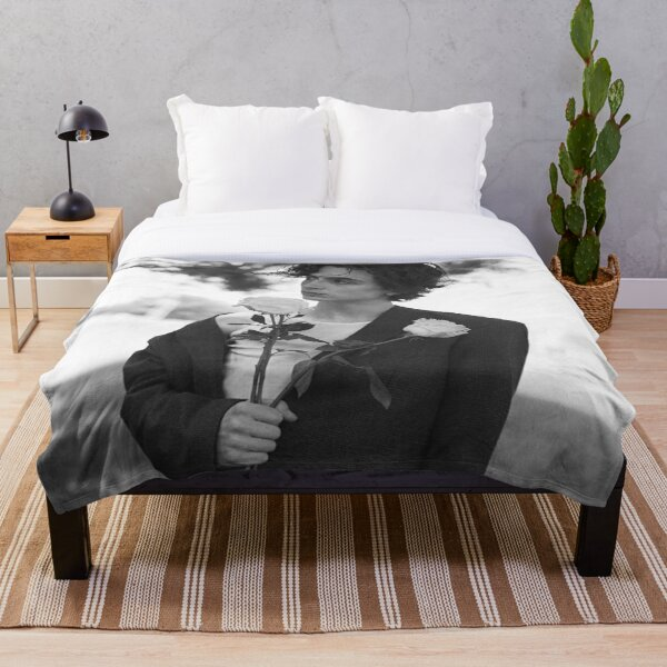 Timothee Chalamet - Black and White Throw Blanket