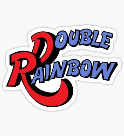Double Rainbow Sticker