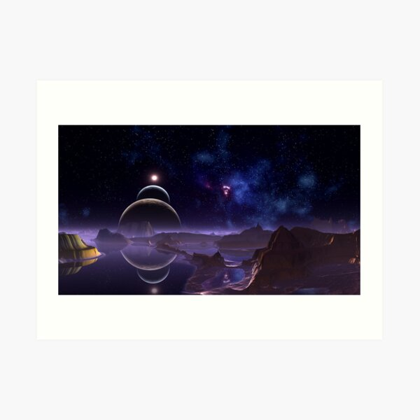 Reflective Moons - Rim World Art Print