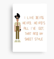 The IT Crowd – I Like Being Weird Canvas Print