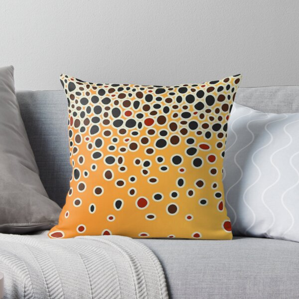 Brown Trout Skin Throw Pillow