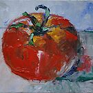 """""""Ripen Tomato"""" - 4"""" x 6"""" original oil painting by Magaly Burton by Magaly Burton"""