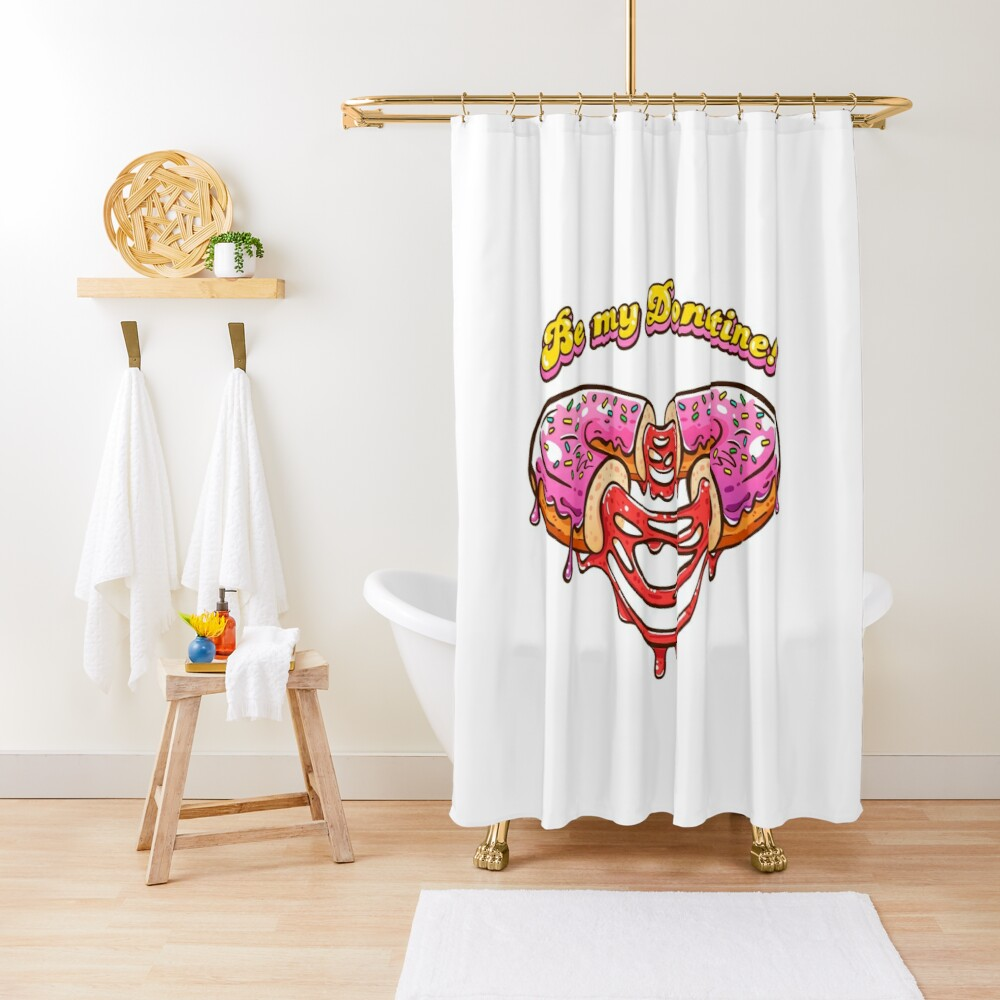 Be my Donutine! Happy Valentines Day with Donuts! Shower Curtain