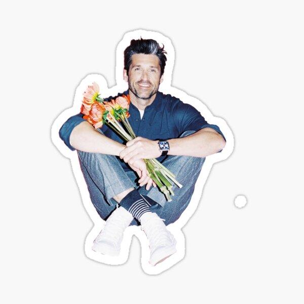 Patrick Dempsey Flower Sticker