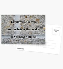 Employee Service Anniversary Thank You Card - Cement Wall Postcards