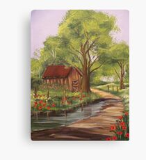 The Crooked Barn Canvas Print