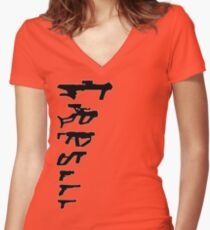 GunPlay Shadow Shot Women's Fitted V-Neck T-Shirt